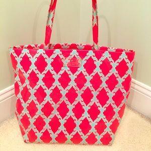 Kate Spade Bon Shopper Tote Coral & Aqua